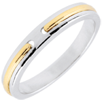 sell on line Wedding Ring Promise - white gold and yellow gold - small model - 18 carat