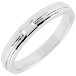gift Wedding Ring Promise - white gold - small model - 18 carat