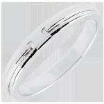 buy on line Wedding Ring Promise - white gold - small model - 18 carat