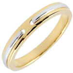 present Wedding Ring Promise - yellow gold and white gold - small model