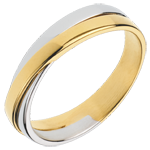 Wedding Ring Saturn Duo - all gold - yellow gold and white gold