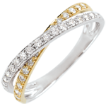 buy Wedding Ring Saturn Duo double diamond - yellow and white gold - 18 carat