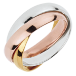 sell Wedding Ring Saturn Movement - large model - 3 golds, 3 rings