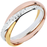 gifts women Wedding Ring Saturn Movement variation- large model - 3 golds, 3 rings
