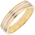 jewelry Wedding Ring Tricoloured Odysseus
