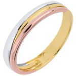 gift women Wedding Ring Triya - Three golds
