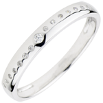 Wedding Ring with Diamonds Nuptial