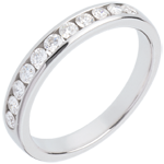 sell on line Wedding ring yellow gold semi-paved channel setting - 0.4 carat - 11 diamonds