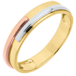 gold jewelry Wedding Ring Yellow Titan - Three golds