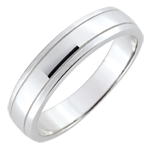 buy Weddingring men Horizon - brushed white gold - 18 carat