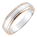 Weddingring men Horizon - white gold, rose gold - 18 carat