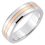 Weddingring Star - Small model - white gold, rose gold