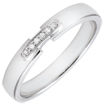 gold jewelry Weddingring uni-precious white gold and diamonds