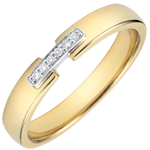 gifts women Weddingring uni-precious yellow gold and diamonds