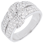 Weissgold Ring Ewiges Band mit Diamanten