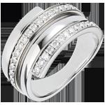 Geschenke Frauen Weissgoldring Baltikum mit 30 Diamanten - 0.45 Karat