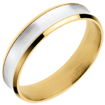 buy White and Yellow Gold Dandy Ring - 5mm