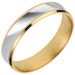 White and Yellow Gold Dandy Ring