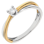 sales on line White and Yellow Gold Duetino Solitaire