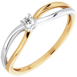White and Yellow Gold Ella Ring