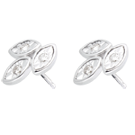 sales on line White Gold and Diamond Bouquet Earrings