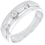 present White Gold and Diamond Bysantium Trilogy Ring