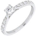 White Gold and Diamond Cherie Ring