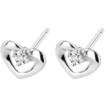 weddings White Gold and Diamond Enchanted Heart Earrings