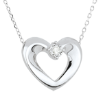 sales on line White Gold and Diamond Enchanted Heart Necklace