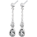 present White Gold and Diamond Josephine Earrings
