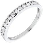 jewelry White Gold and Diamond Magic Stone Half Eternity Ring