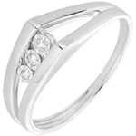 gold jewelry White Gold and Diamond Odyssey Trilogy Ring