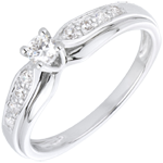 White Gold and Diamond Salma Ring