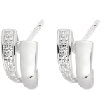 White Gold and Diamond Sapience Earrings