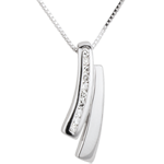 White Gold and Diamond Sapience Necklace