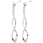 White Gold and Diamond Spectacle Earrings