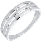 gift woman White Gold and Diamond Summer Soirée Ring