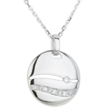 sales on line White Gold and Diamond Sunshine Necklace