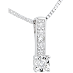 gifts White Gold and Diamond Themis Necklace