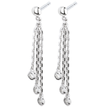 sell White Gold and Diamond Waterfall Drop Earrings