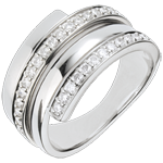 wedding White Gold Baltique ring - 0.45 carats - 30 diamonds