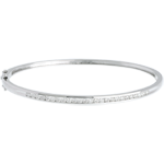 White gold bangle/bracelet - 0.75 carat - 25 diamonds