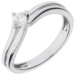 White Gold Dhalia Solitaire