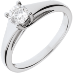 sell on line White Gold Diadem Solitaire Ring