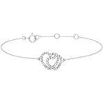 gift White Gold Diamond Bracelet -Heart Accomplices - 9 carats