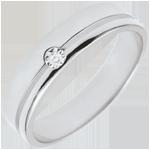 gold jewelry White Gold Diamond Olympia Wedding Band - Average Model - 18 carats