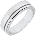 White Gold Diamond Olympia Wedding Band - Large Model - 18 carats