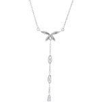 White Gold Diaphanous Necklace - 18 carats