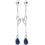 gifts White Gold Evina Sapphire Earrings