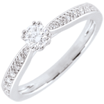 sell on line White Gold Garlane Solitaire Engagement Ring with 8 claws - 0.19 carat